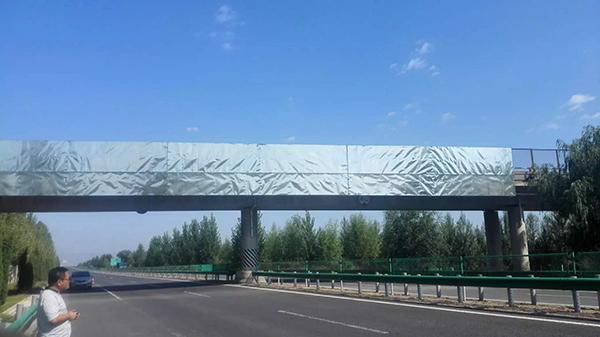 张家口跨线桥广告牌制作