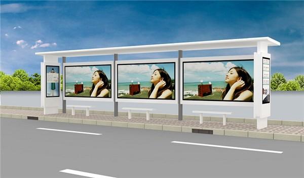 张家口公交车站广告灯箱制作